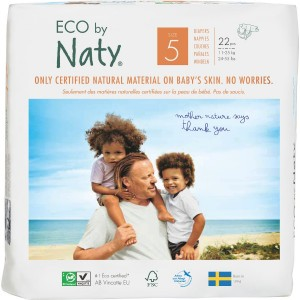 6 x Scutece ECO Naty, Nr. 5, 11-26 kg, 23 buc