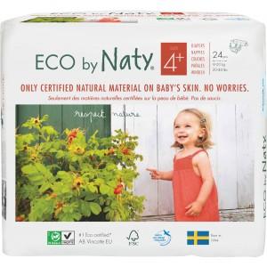 Scutece ECO Naty, Nr. 4+, 9-20 kg, 24 buc