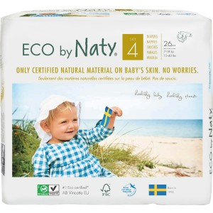 Scutece ECO Naty, Nr. 4, 7-18 kg, 26 buc