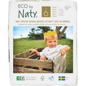Scutece eco Naty nr. 6, 16+ kg, 17 buc.