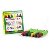 Creioane cerate Waxtex pentru textile, 6 culori, Okonorm