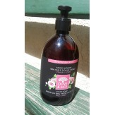 Sapun lichid Saryane, 100% ulei virgin masline, cu trandafir, 500ml