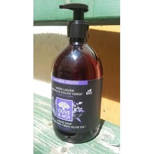 Sapun lichid Saryane, bio, 100% ulei virgin masline, cu lavanda, 500ml